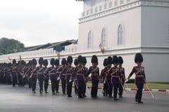 BANGKOK - DECEMBER 2 : Thai royal guard military during the king Stock Photography