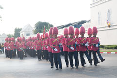 BANGKOK - DECEMBER 2 : Thai royal guard military during the king Stock Images