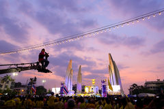 BANGKOK - DECEMBER 05: 1,000,000 of Thailand's celebration Fathe Royalty Free Stock Photo