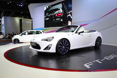 BANGKOK - December 11: Toyota FT-86 open concept car on display Stock Photo