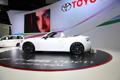 BANGKOK - December 11: Toyota FT-86 open concept car on display Royalty Free Stock Photography