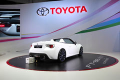 BANGKOK - December 11: Toyota FT-86 open concept car on display Royalty Free Stock Images