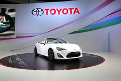 BANGKOK - December 11: Toyota FT-86 open concept car on display Stock Photos
