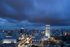 Bangkok an der Dämmerung Stockbild