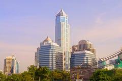 Bangkok an der Dämmerung Stockfotos