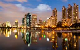 Bangkok an der Dämmerung Lizenzfreies Stockbild