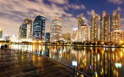 Bangkok an der Dämmerung Stockfotografie