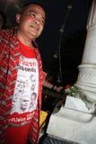 BANGKOK - 10. DEZEMBER: Rote Hemd-Protest-Demonstration - Thailand Stockfoto