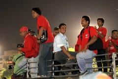 BANGKOK - 10. DEZEMBER: Rote Hemd-Protest-Demonstration - Thailand Lizenzfreie Stockfotografie