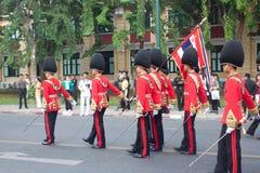 BANGKOK - 2. DEZEMBER: Thailändisches königliches Schutzmilitär während des Königs Stockfoto
