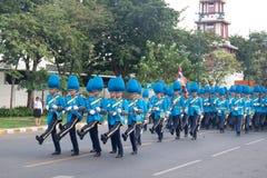 BANGKOK - 2. DEZEMBER: Thailändisches königliches Schutzmilitär während des Königs Stockbilder