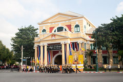 BANGKOK - 2. DEZEMBER: Thailändisches königliches Schutzmilitär während des Königs Lizenzfreies Stockbild