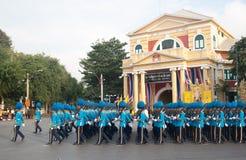 BANGKOK - 2. DEZEMBER: Thailändisches königliches Schutzmilitär während des Königs Lizenzfreie Stockfotos