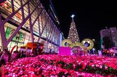 BANGKOK - 4. DEZEMBER: X'mas-Baum an der zentralen Welt Lizenzfreies Stockbild