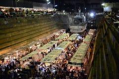 Bangkok dockland (de markt in het dok) Stock Afbeeldingen