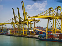 Bangkok docks. Haulage commercial and cargo Stock Photos