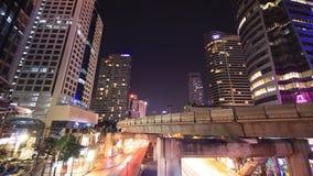 Bangkok city at night. Bangkok cityscape at night stock video