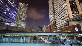 Bangkok city at night. Bangkok cityscape at night stock video footage