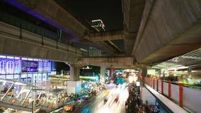 Bangkok city at night stock video footage