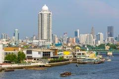 Bangkok downtown from Chao Phraya river Royalty Free Stock Photo