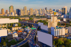Bangkok Downtown City Skyline sunshine Royalty Free Stock Photo