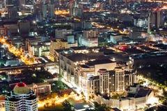Bangkok downtown at Night. Stock Photo