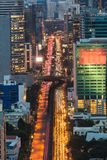 Bangkok downtown traffic during busy hours. Thailand Stock Images