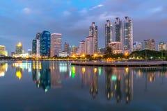Bangkok downtown twilight Royalty Free Stock Photo
