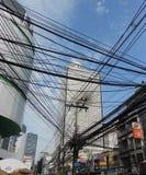 Bangkok-Drähte Lizenzfreies Stockbild