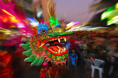 Bangkok dragon. A dragon at chinese new year in bangkok,thailand Stock Images