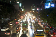 bangkok driftstopptrafik Royaltyfria Bilder