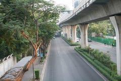 Bangkok droga z niebo pociągiem Fotografia Royalty Free