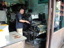 Bangkok Drukowa prasa obrazy stock