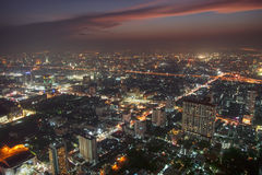 Bangkok at dusk Stock Photography