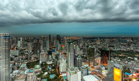 Bangkok at dusk with main river Royalty Free Stock Images