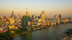 Bangkok at Dusk Timelapse stock video footage