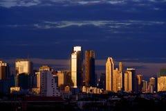 bangkok dzielnica biznesu półmrok obraz royalty free