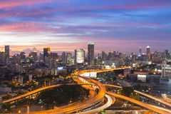 Bangkok elevated road junction and interchange Stock Photography