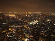 Bangkok en el panorama de la ciudad de la noche fotografía de archivo libre de regalías