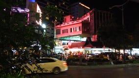 Bangkok en la noche almacen de video