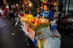 Bangkok en la noche, 2013 Imagen de archivo libre de regalías