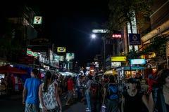 Bangkok en la noche, 2013 Fotografía de archivo libre de regalías