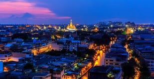 Bangkok en la noche Imagenes de archivo