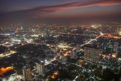 Bangkok en la oscuridad fotografía de archivo