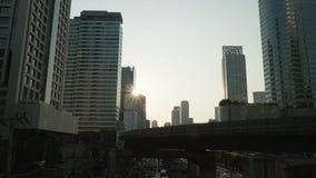 Bangkok en la puesta del sol