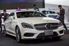 BANGKOK - 1ER DÉCEMBRE : Frein de tir de CDI de Mercedes-Benz CLS 250 c Image stock