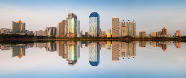 Ville urbaine moderne, Bangkok, Thaïlande Image libre de droits