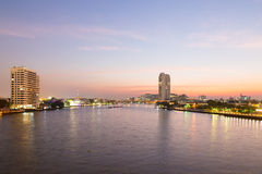 Bangkok evening and rivers Stock Photo