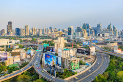Bangkok expressway in the evening Royalty Free Stock Photography