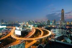 Bangkok Expressway and Highway top view in Bangkok, Thailand Stock Image